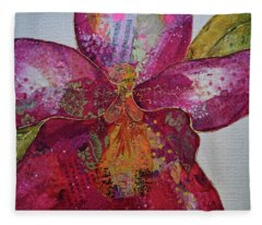 Orchid Passion II Fleece Blanket