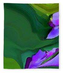 Orchids And Emeralds Fleece Blanket
