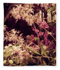 Orchids In The Atrium Fleece Blanket