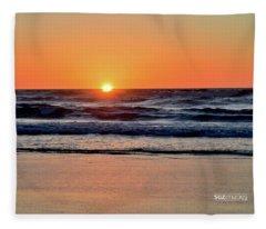 Oregon Coast Hwy 101 Fleece Blanket