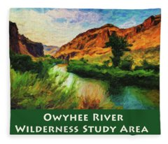 Owyhee River Wsa Fleece Blanket