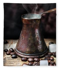 Oriental Coffee Pot Fleece Blanket
