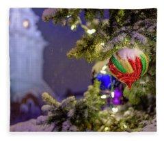 Ornament, Market Square Christmas Tree Fleece Blanket