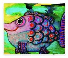Oscar The Nosefish Fleece Blanket