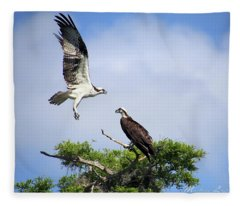 Ospreys At Blue Cypress Lake Fleece Blanket