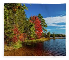 Oswego Lake Pinelands Fleece Blanket