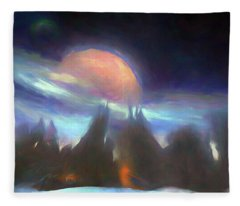 Other Worlds II Fleece Blanket