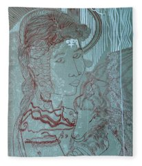 Our Lady Of Asia Mary Mother Of Jesus Christ, Divine Shepherdess Fleece Blanket