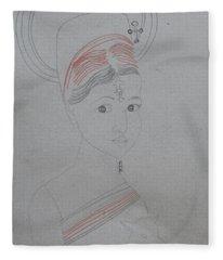 Our Lady Of Asia Saint Mary Divine Shepherdess Fleece Blanket
