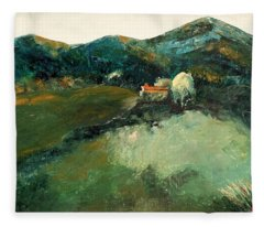 Our Tuscan Villa View Fleece Blanket