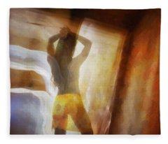 Out In The Morning Light Fleece Blanket