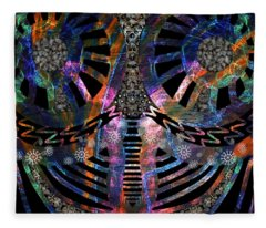 Out Of Madness Digital 4 Fleece Blanket