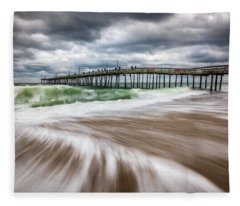 Outer Banks Nc North Carolina Beach Seascape Photography Obx Fleece Blanket