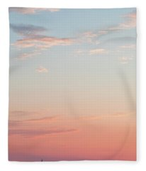 Outer Banks Sailboat Sunset Fleece Blanket
