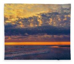 Outer Banks Sun Rise Fleece Blanket