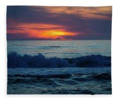 Outer Banks Sunrise Fleece Blanket