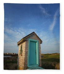 Outhouse, Matinicus Island, Knox Fleece Blanket