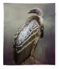Over Her Shoulder Fleece Blanket