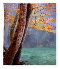 Ozark Autumn  Fleece Blanket