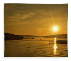Ozark Sunrise Fleece Blanket