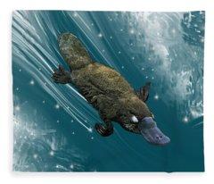 P Is For Platypus Fleece Blanket