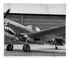 P40 Warhawk  Fleece Blanket