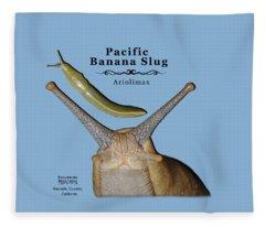 Pacific Banana Slug Fleece Blanket