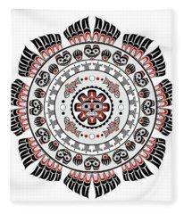 Pacific Northwest Native American Art Mandala Fleece Blanket