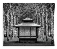 Fleece Blanket featuring the photograph Pagoda by Steve Stanger