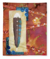 Painted Feather Fleece Blanket