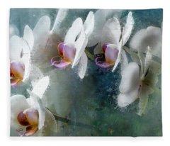 Painted Orchids Fleece Blanket