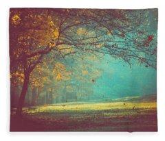 Painted Sunrise Fleece Blanket
