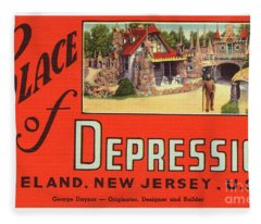 Palace Of Depression Fleece Blanket