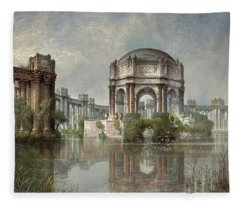 Palace Of Fine Arts And The Lagoon, 1915 Fleece Blanket