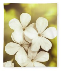 Pale Wildflowers Fleece Blanket