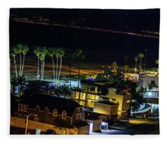 Palisades Park Night - Panorama Fleece Blanket