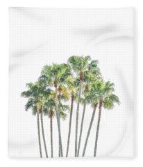 Palm Tree Grove Fleece Blanket
