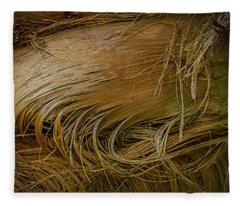 Palm Tree Straw Fleece Blanket