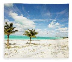 Palms And Kites Fleece Blanket