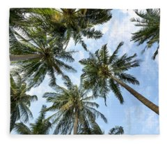 Palms  Beach Fleece Blanket