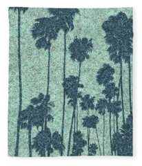 Palms Over Palisades No. 2 Fleece Blanket