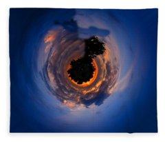 Panorama Abstract 01 Fleece Blanket