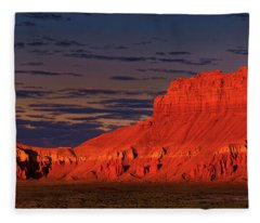 Panorama Dawn Light On Wild Horse Butte Goblin Valley Utah Fleece Blanket