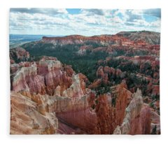 Panorama  From The Rim, Bryce Canyon  Fleece Blanket