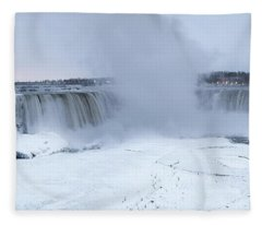Panoramic View Niagara Falls Fleece Blanket