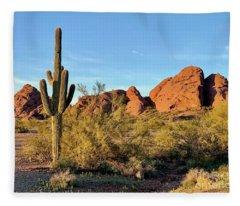 Papago Butte Fleece Blanket