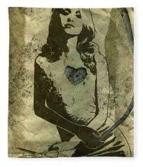 Paper Doll Fleece Blanket