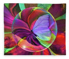 Papillon De  Grace Fleece Blanket