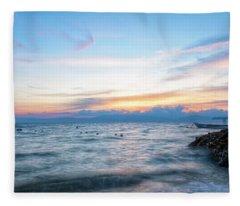 Paradise Beauty Fleece Blanket