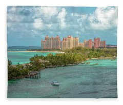 Paradise Island Bahamas Fleece Blanket